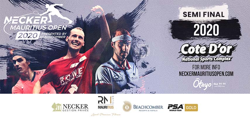 Necker Mauritius Open presented by Beachcomber – Day 4 (Semi Finals) slider image