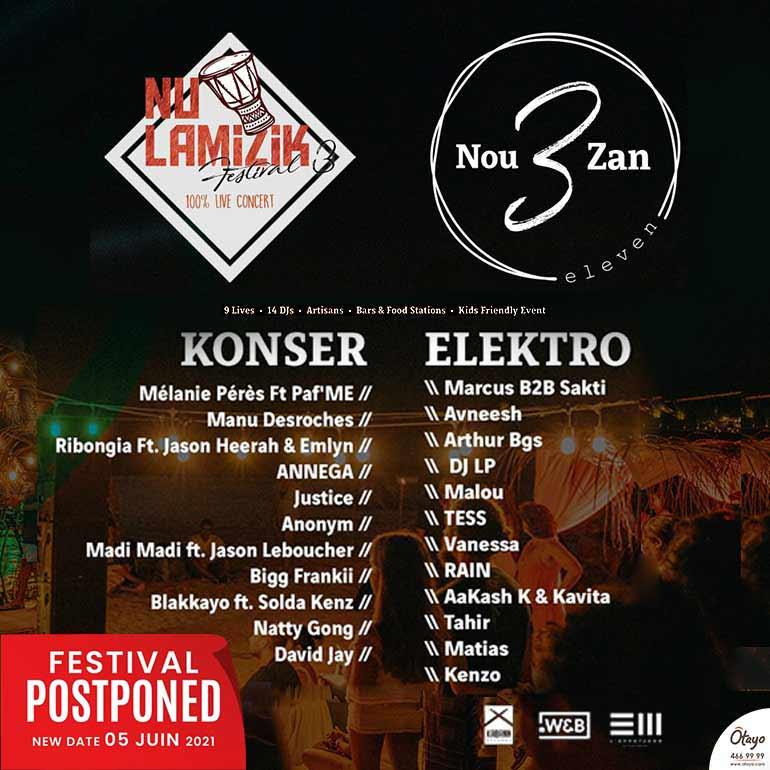 ELEVEN │ Nou 3 Zan │ Festival Lamizik Pie Dan Lo